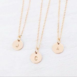 Jewelry - Disc, Initial Necklace